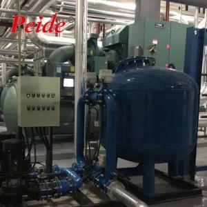 Paisagem artificial do Sistema de Tratamento de Água do Filtro de areia com a Bomba
