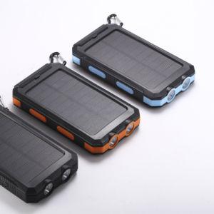 [Kingmaster] (7.14-8$) indicatore luminoso del caricatore 8000mAh 20000mAh 2 LED delle porte della Banca 2 di energia solare con la bussola