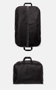 カスタマイズされたロゴのEcoの再使用可能で黒いNon-Wovenカスタムスーツの衣装袋