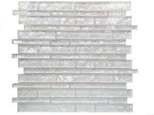 Premium White Flor de hielo de la película, mosaico de vidrio, Mosaico