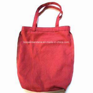 Produtos OEM de fábrica Lona de Algodão Vermelha de impressão personalizado Tote Sacola de Compras de elevação