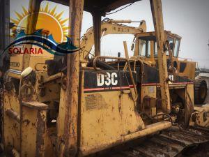 Bulldozer D3c del trattore a cingoli di seconda mano/utilizzata per l'originale Giappone del bulldozer del cingolo del gatto della costruzione