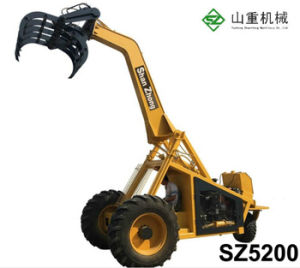 3 колеса погрузчика сахарного тростника Китая сахарного тростника с зажимом погрузчика
