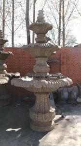 Fontein van de Vijver van het Water van de Tuin van de Steen van het Beeldhouwwerk van het Graniet van Yelow de Hand Gesneden