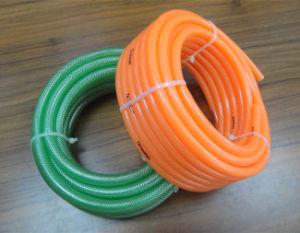Para uso alimentario transparente de PVC flexible trenzado / trenzado reforzado con fibra Tubos tubo Net