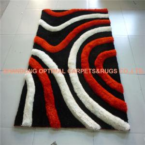 La main en touffes d'Art Moderne de la soie polyester Shaggy Carpet and Rug pour la maison