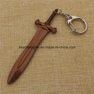 Final Fantasy de armas en miniatura de la Espada de Metal Llavero colgante anillo