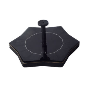 Hoja de loto de la bomba solar fuente de agua de piscina