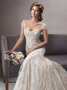 Kleding S201748 van het Huwelijk van de Kralenversiering van de Toga's van Champagne de Bruids Zilveren