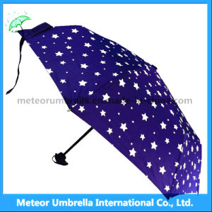 青いStar Sky UmbrellaかGift 3 Folds Discount Umbrella