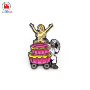 美しい金属がケーキの折りえりPinを焼くエナメルのロゴをカスタマイズしなさい