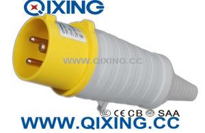 La norme CEI 60309 3p jaune industrielle prise mâle Mâle et femelle avec queue en PVC