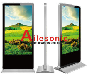 Support de plancher de 84 pouces LED Couleur Intérieure de supports publicitaires lecteur vidéo, écran de panneau LCD, réseau d'affichage de signalisation numérique