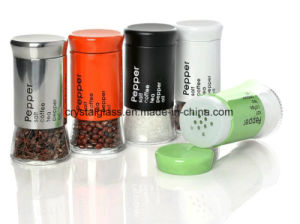 Beschichtung-Salz-Pfeffer-Paprika-Glasflasche des Edelstahl-130ml