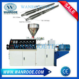 WPC que hace la máquina extrusora de la línea de extrusión de tubería de PVC
