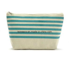 Pochette cosmétique promotionnel toile des sacs de toilette de bande de maquillage pour les femmes et hommes