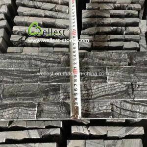 Haut de Gamme Corniche de pierre de la culture de marbre noir pour les longs murs de pierre