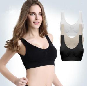 Entrega rápida Senhoras Sport Lazer Yoga confortável Seamless Ahh Bra (SR2230)