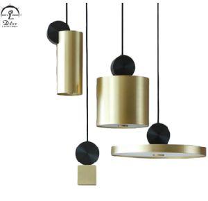 Lâmpada pendurada Suspenssion Ouro moderno pendente de LED de iluminação para o quarto