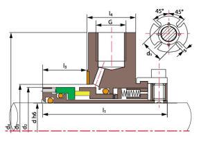 Burgmann Cartex Se, Joint de cartouche Tsk1, Joint de pompe industrielle