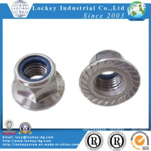 DIN985 DIN982 Nylon Insertar la tuerca hexagonal tuerca de bloqueo de nylon