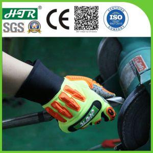 Resistente ao impacto antiderrapagem luvas de trabalho mecânico de segurança com protecção TPR