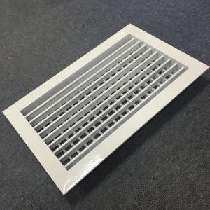 Alimentation unique en aluminium double registre du déflecteur de grille