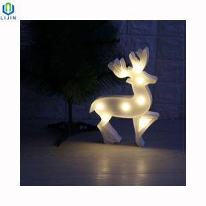 Elk Motif peu de lumière LED lampe de nuit de bureau