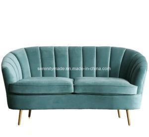 居間の使用のためのヨーロッパ式の2つのシートのビロードのソファー