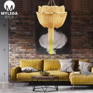 Moderner eleganter goldene Ketten-Leuchter für Landhaus