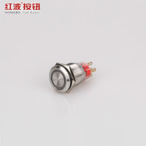 ステンレス鋼は16mm 19mm LEDの押しボタンスイッチを防水する