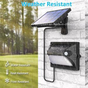 12のLED分離可能な太陽屋外の庭の壁の機密保護ライトを変更する二重ヘッドセンサーカラー