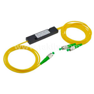 Accoppiatore d'acciaio ottico di Fbt del tubo della fibra 1*2 con i connettori di LC/Upc