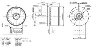 42mm de Buiten Brushless gelijkstroom Motor van de Rotor BLDC