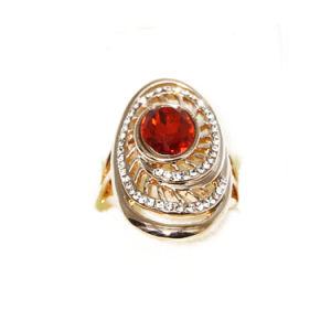 Cor de ouro Jóias de anel com pedras de Cristal Granada
