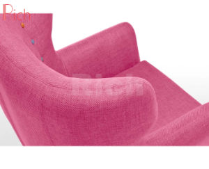 Whoslesale Hauptmöbel-Rosa-Gewebe-Sofa-Stuhl mit Regenbogen-Tasten