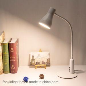 Iluminación LED regulable de interiores moderna lámpara de mesa para la lectura
