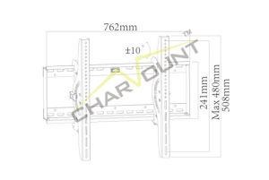 보편적인 호리호리한 경사 텔레비젼 벽 부류 마운트 (CT-PLB-201)