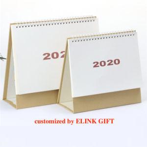 2020 de Aangepaste Kalender van het Karton van het Document van de Kalender van het Tafelblad van de Desktop Spiraalvormige Bindende