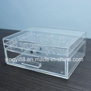 Kundenspezifischer AcrylplastikWimper-Organisator mit Firmenzeichen