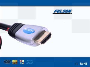 高速HDTV 1080P金によってめっきされるHDMIのケーブル1.5m-50m