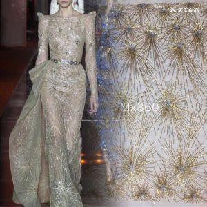 Новые пайетками вышивка кружева для проведения свадеб и вечерние платье