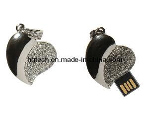中心の形の宝石類のギフトUSB (HG-029)