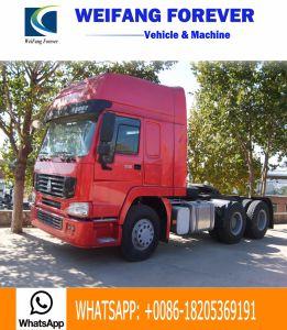 2017 modelleer Sinotruk HOWO 7 6X4 10 Wiel 371HP, 380HP, 420HP met de Dubbele Vrachtwagen van de Tractor van de Aandrijfas van de Vermindering Gebruikte, de Primaire krachtbron van de Tweede Hand