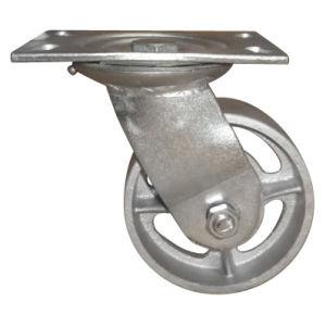 125mm y 6 en rueda de acero pesado Castor de estilo europeo