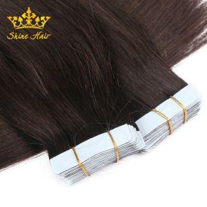 100% virgem de cabelo humano a extensão com fita na extensão de cabelo