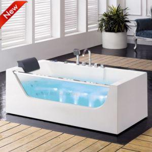 Vasca da bagno solida acrilica di nuovo di disegno 2015 massaggio della bolla sanitaria (SF5B002)