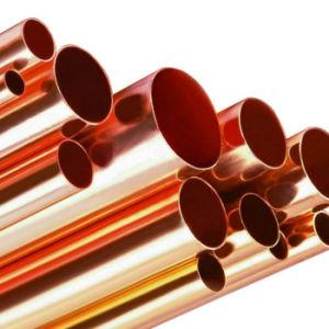 H62 H65 H75 H80, H85, H90 refrigera o tubo de latão C10100 C11000 C12200 do Condicionador de Ar Tubo de Cobre