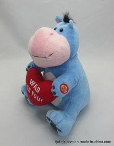 Hippopotame de Valentine de jouet de peluche d'animation de Veille de la toussaint de Noël
