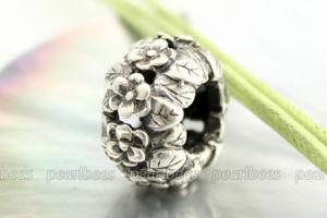 De echte Zilveren Parels Bracelet/925 Zilveren Chram van de Parels van de Charme van Pandora Geschikte Europese